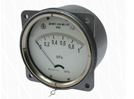 Membrane indicating draft gauges ТмМП-100-М1, head gauges НМП-100-М1, draft-head gauges ТНМП-100-М1, differential pressure draft gauges ДТмМП-100-М1, differential pressure head gauges ДНМП-100-М1, differential pressure draft-head gauges ДТНМП-100-М1