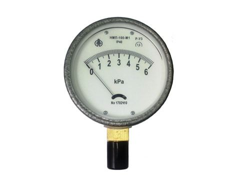 Membrane indicating draft gauges ТмМП-100-М1P, head gauges НМП-100-М1Р, draft-head gauges ТНМП-100-М1Р with radial nozzle version